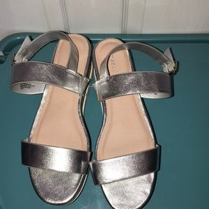Madden girl silver sandals